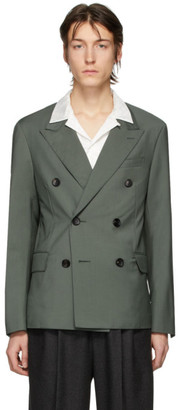 Lanvin Green Wool Double-Breasted Blazer
