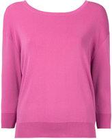 Le Ciel Bleu wide neck sweatshirt - women - Polyester/Rayon - 36