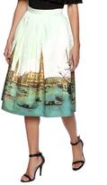 Blaque Label Print A-line Skirt