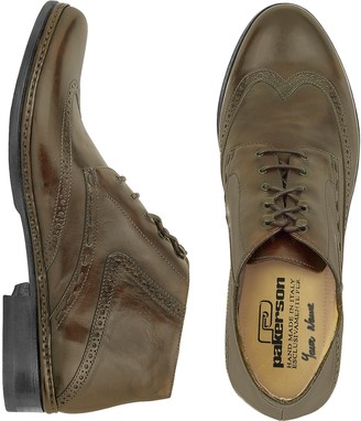 Pakerson Cocoa Handmade Italian Leather Wingtip Ankle Boots