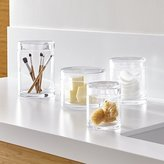 Crate & Barrel Mode Clear Glass Canisters