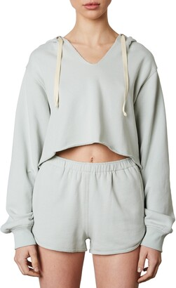 Nia Notched Hooded Pullover
