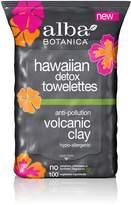 Alba Hawaiian Detox Towelettes Anti-Pollution Volcanic Clay, 30 Count