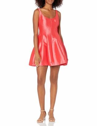 Betsy & Adam Women's Short Party Dress Tank Style Scoop Neck