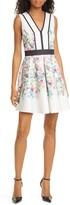 Ted Baker Solarh Pergola Print Floral Sleeveless Fit & Flare Dress
