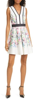 Ted Baker Solarh Pergola Print Floral Sleeveless Fit & Flare Dress