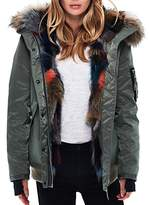 SAM. Multi Luxe Sloane Fur-Lined Down Bomber Jacket
