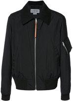 Loewe dog print bomber jacket - women - Polyamide - 44