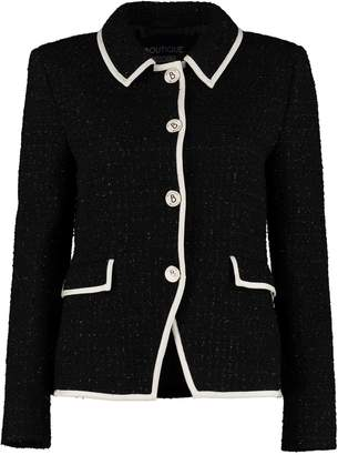 Moschino Boucle Wool Single-breasted Jacket