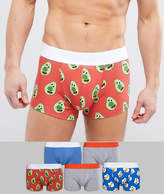 Asos Hipsters With Breakfast Print 5 Pack