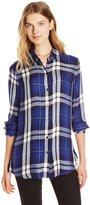 7 For All Mankind Seven7 Women's Rayon Long Sleeve Button Down No Pocket