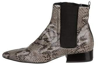 Michael Kors Snakeskin Pointed-Toe Ankle Boots