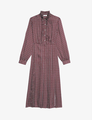 Sandro Thina silk-satin midi dress