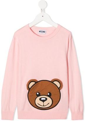 MOSCHINO BAMBINO Teddy Applique Sweatshirt