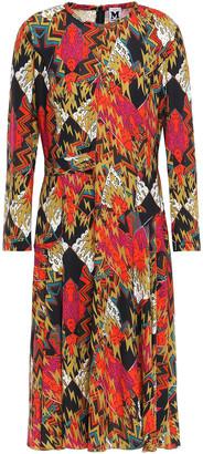 M Missoni Draped Printed Stretch-crepe Dress