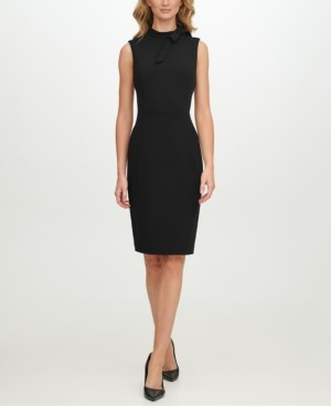 Calvin Klein Petite Tie-Neck Sheath Dress
