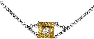 Diamond Select Cuts 18K Two-Tone 1.40 Ct. Tw. Diamond Pendant Bracelet