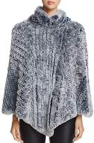 Maximilian Furs Knit Rabbit Fur Poncho - 100% Exclusive