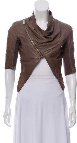 82200f63d Cropped Leather Jacket