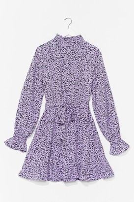 Nasty Gal Womens Flower Down Your Love High Neck Mini Dress - Purple - 12