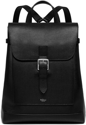 Mulberry Chiltern Backpack Black Natural Grain Leather