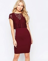 Jessica Wright Sushita Dress with Lace Top Overlay