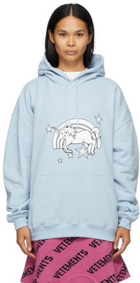 Vetements Blue Magic Unicorn Hoodie