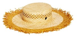 Raffaello Bettini Wide-Brim Fringe Straw Hat - 100% Exclusive