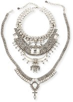 DYLANLEX Skyler X Two-Piece Crystal Statement Necklace