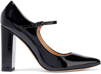 Halston Sally Patent-leather Mary Jane Pumps