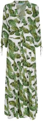 Melissa Odabash Margo Palm Tree Maxi Kaftan