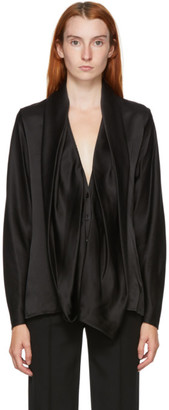 Haider Ackermann Black Silk Dali Blouse