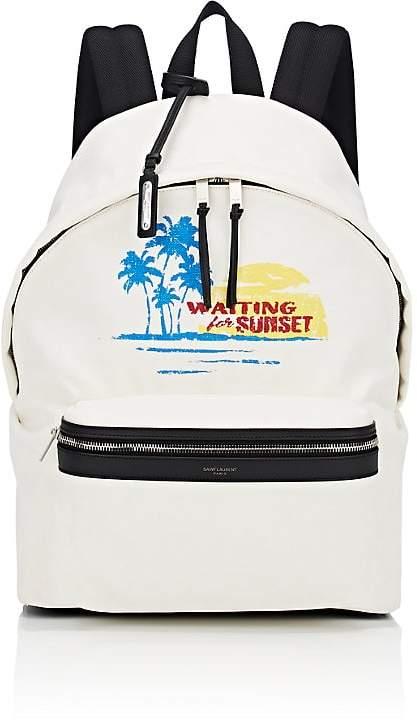 Saint Laurent Men's Classic Canvas Backpack
