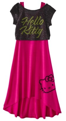 Hello Kitty Girls' Maxi Dress - Fuchsia
