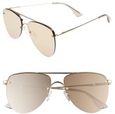 Le Specs Women's The Prince 59Mm Mirrored Rimless Aviator Sunglasses - Light Gold