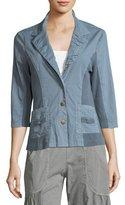 XCVI 3/4-Sleeve Three-Button Jacket