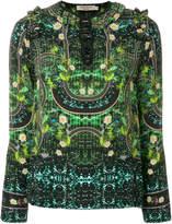Piccione Piccione Piccione.Piccione patterned frill blouse