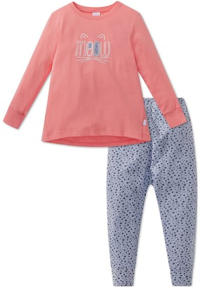 Schiesser Girl's Cat Zoe Md Anzug Lang Pyjama Sets