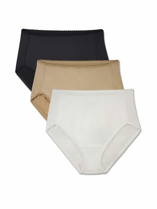 Brilliance by Vanity Fair Women's 3-Pack Undershapers Light Control Hi-Cut Panty 48301