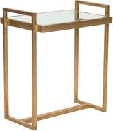 Safavieh Joyce Mirroed Side Table, Gold