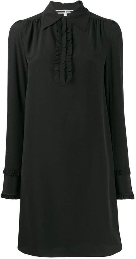 McQ ruffled shift dress