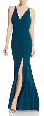 Aqua Crepe Mermaid Gown - 100% Exclusive