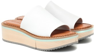 Clergerie Fast leather platform slides
