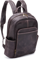 Le Donne Chocolate Distressed Renegade Leather Backpack