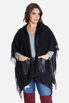 Fashion to Figure Marcella Fringed Hooded Ruana