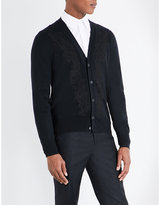 Alexander Mcqueen Embroidered Wool Cardigan