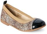 Naturino Kids Girls) Leopard Print Cap Toe Ballet Flats
