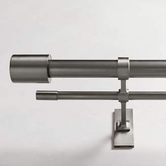 west elm Oversized Metal Double Rod - Gunmetal