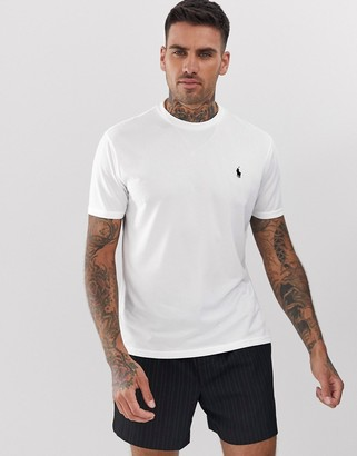 Polo Ralph Lauren performance player logo t-shirt in white