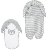 Babies 'R' Us Babies R Us - Gray/White B is for Bear Double Car Seat and Stroller Headrest by Babies R Us